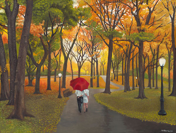 Images Of Lovers In Rain: Paintings, Art, Artworks, By Nathan Walsh