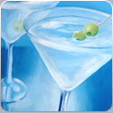 Blue Martini, oil painting