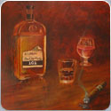 Bourbon, oil painting