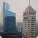 The Foshay Tower, Oil on Canvas